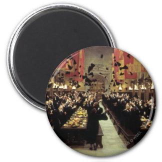 Harry Potter-Schloss   der große Hall Runder Magnet 5,7 Cm