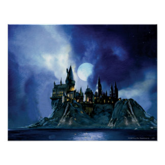 Harry Potter-Schloss | Hogwarts nachts Poster
