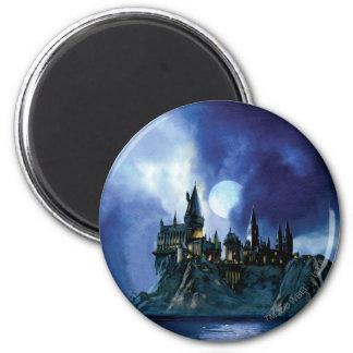 Harry Potter-Schloss   Hogwarts nachts Runder Magnet 5,7 Cm