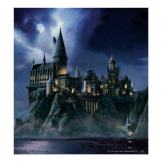 Harry Potter-Schloss | Moonlit Hogwarts Poster