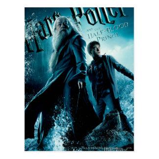 Harry Potter und Dumbledore auf Felsen 1 Postkarte