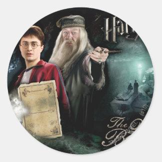 Harry Potter und Dumbledore Runder Aufkleber
