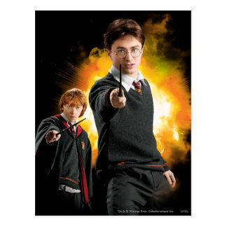 Harry Potter und Ron Weasely Postkarte