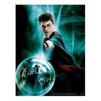 Harry Potter und Voldemort nur man können Postkarte