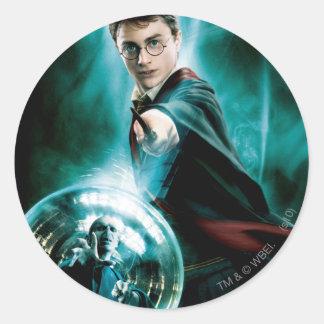 Harry Potter und Voldemort nur man können überlebe Runde Aufkleber