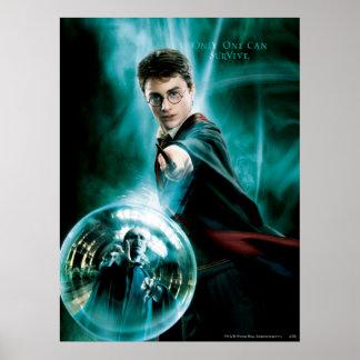 Harry Potter und Voldemort nur man können überlebe Poster