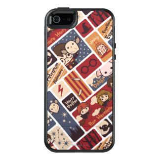 Harry- PotterCartoon-Szenen-Muster OtterBox iPhone 5/5s/SE Hülle