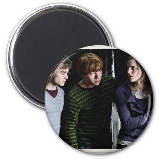 Harry, Ron und Hermione 4 Runder Magnet 5,1 Cm