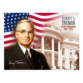 Harry S. Truman - 33. Präsident der US Postkarte