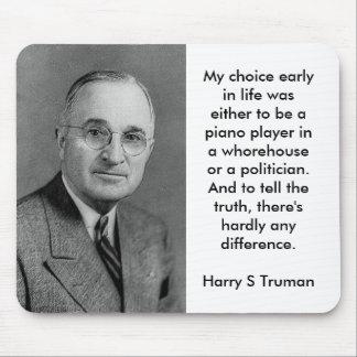 Harry S Truman auf Politikern Mousepad