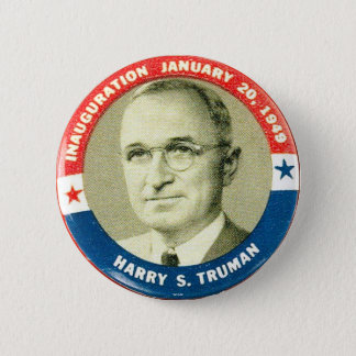 Harry Truman - Knopf Runder Button 5,7 Cm
