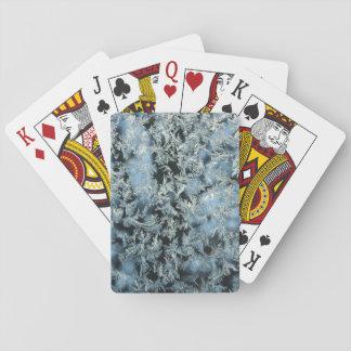 Harte abstrakte photographische Kunst Frosts u. Spielkarten