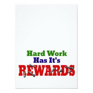 Harte Arbeits-Anerkennung 14 X 19,5 Cm Einladungskarte