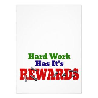 Harte Arbeits-Anerkennung Individuelle Ankündigungen