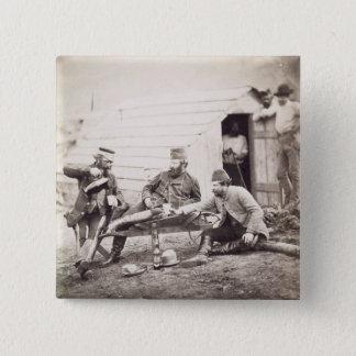 Härten im Lager (Oberst Lowe und in Kapitänen B Quadratischer Button 5,1 Cm