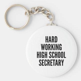 Harter arbeitender Highschool Sekretär Schlüsselanhänger