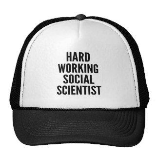 Harter arbeitender Sozialwissenschaftler Baseballcap