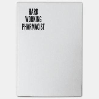 Harter Arbeitsapotheker Post-it Haftnotiz