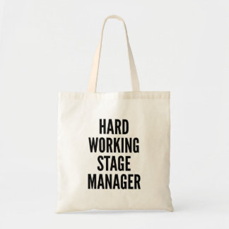 Harter ArbeitsBühne-Manager Budget Stoffbeutel