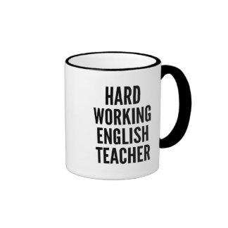 Harter ArbeitsEnglischlehrer Ringer Tasse