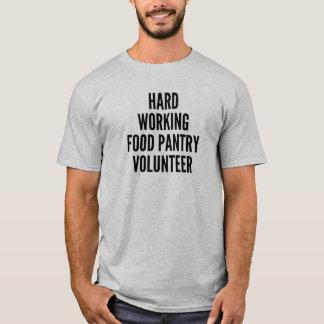 Harter Arbeitsnahrungsmittelpantry-Freiwilliger T-Shirt