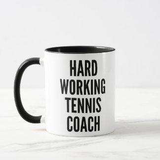 Harter Arbeitstennis-Trainer Tasse
