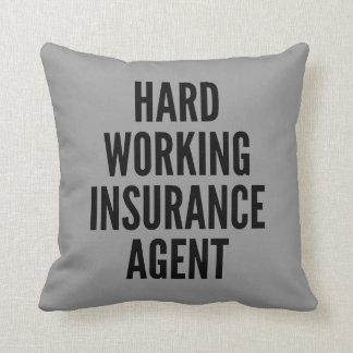 Harter Arbeitsversicherungs-Agent Kissen
