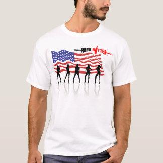Harter Hitter-Gott segnen Amerika-Muskel-Shirt T-Shirt