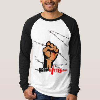 Harter Schlagmannbarb-Draht-langer HülseRaglan T-Shirt