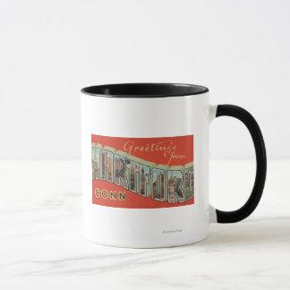Hartford, Connecticut - große Buchstabe-Szenen 4 Tasse