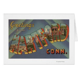 Hartford, Connecticut - große Buchstabe-Szenen Karte