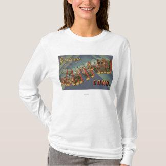 Hartford, Connecticut - große Buchstabe-Szenen T-Shirt