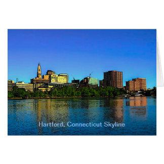Hartford Connecticut Skyline-Cartoon Karte