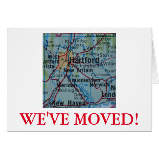Hartford haben wir Adressenmitteilung bewegt Karte