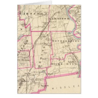 Hartford-Landkreis Connecticut Karte