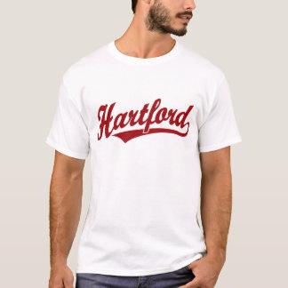 Hartford-Skriptlogo im Rot T-Shirt