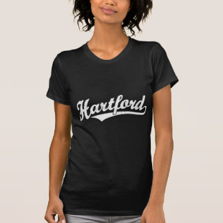 Hartford-Skriptlogo im Weiß beunruhigt T-Shirt