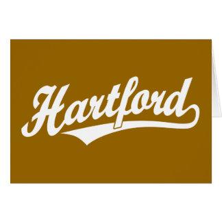 Hartford-Skriptlogo im Weiß Karte