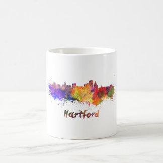 Hartford skyline im Watercolor Kaffeetasse