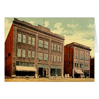 Hartford-Stadt, Indiana 1910 Karte