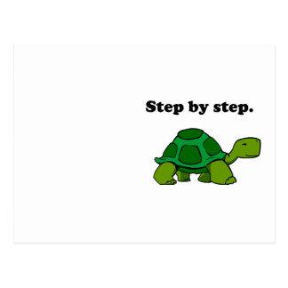 Hartnäckige gewinnende Schildkröten-Schildkröte Postkarte