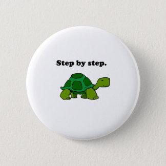 Hartnäckige gewinnende Schildkröten-Schildkröte Runder Button 5,1 Cm