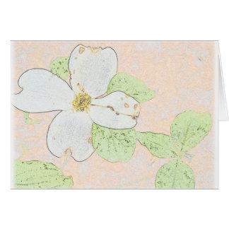 Hartriegel-Blume Karte