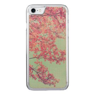 Hartriegel-Blumen-Rosa abgetönte Natur-Kunst + Carved iPhone 8/7 Hülle