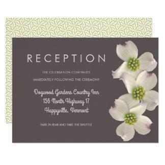 Hartriegel-Hochzeits-Empfangs-Einschließungs-Karte 8,9 X 12,7 Cm Einladungskarte