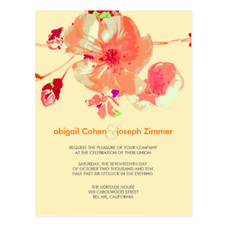 Hartriegel-/Rosa/Pfirsich/Hochzeit Postkarte