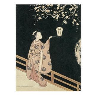 Harunobu Pflaumen-Blüten-Kunst-Drucke 1760 Postkarte