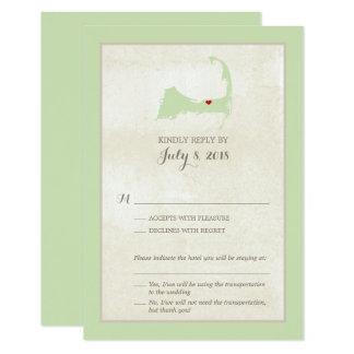 Harwich Cape- Codkarte | Wedding UAWG-Menü Karte