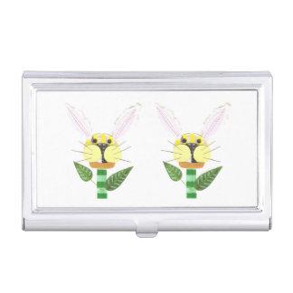 Häschen-Blumen-Geschäfts-Kartenhalter Visitenkarten Etui