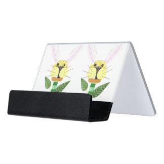 Häschen-Blumen-Schreibtisch-Geschäfts-Kartenhalter Schreibtisch-Visitenkartenhalter